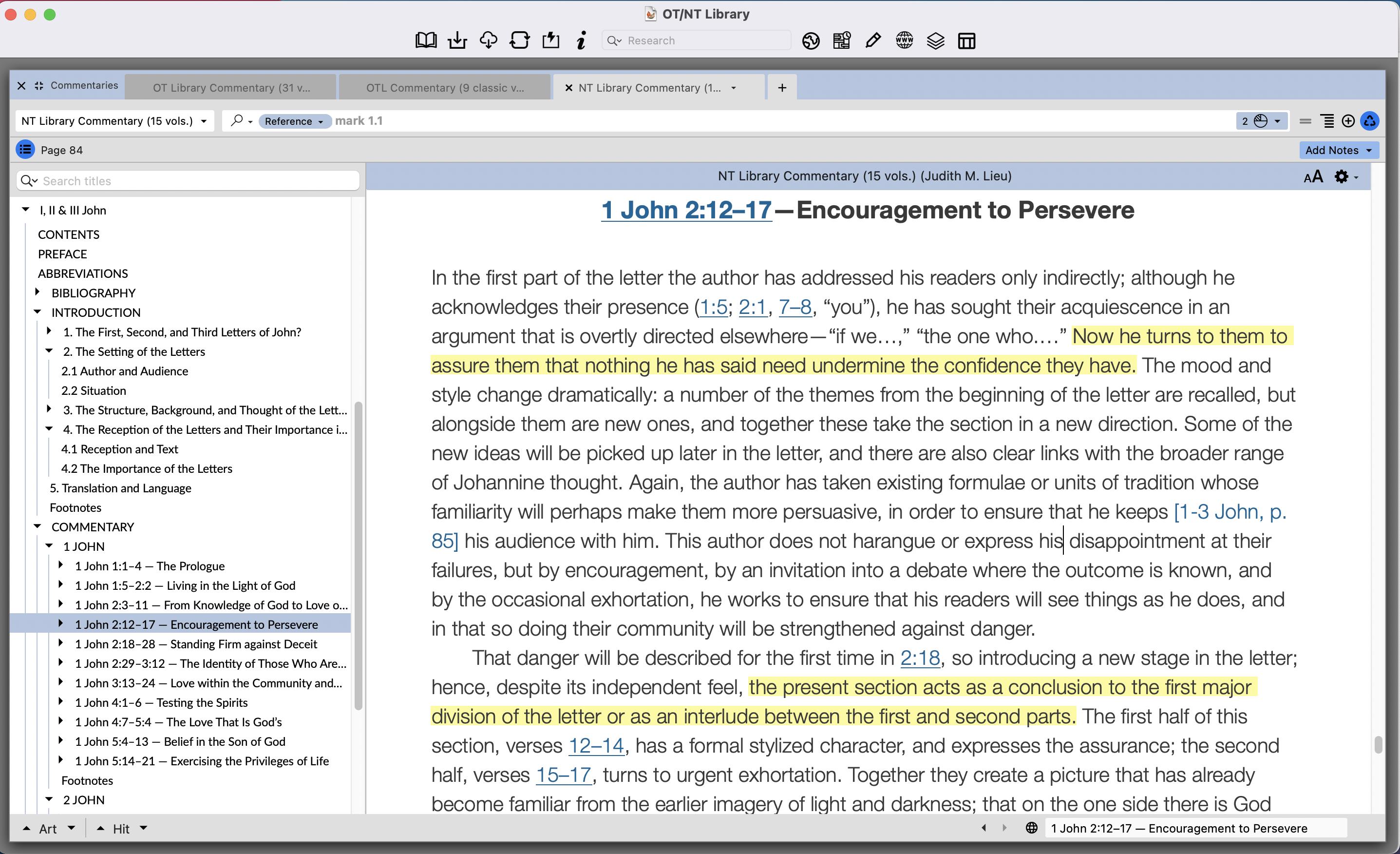 Lieu on 1 John 2:12–17