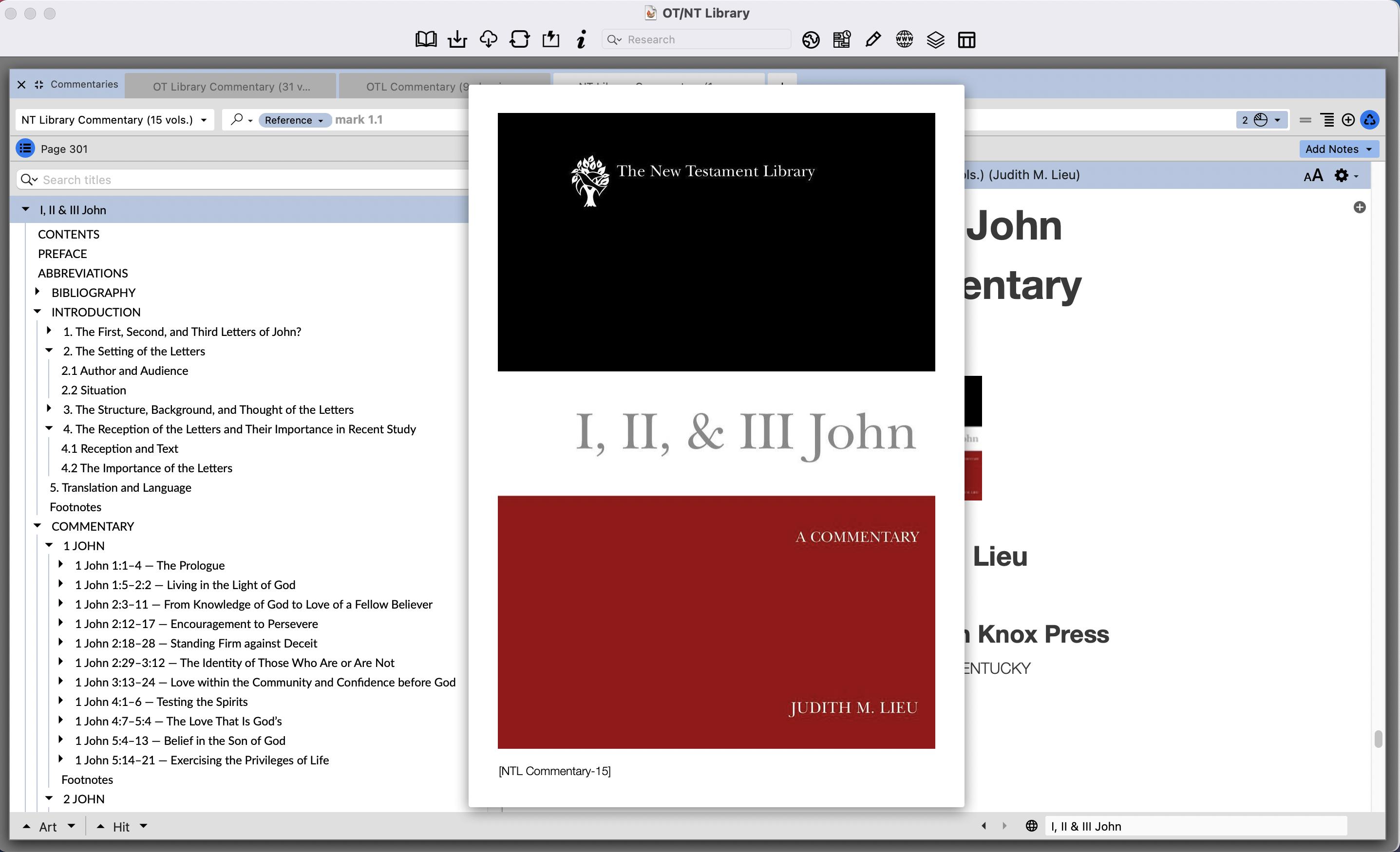 Judith Lieu on 1–3 John