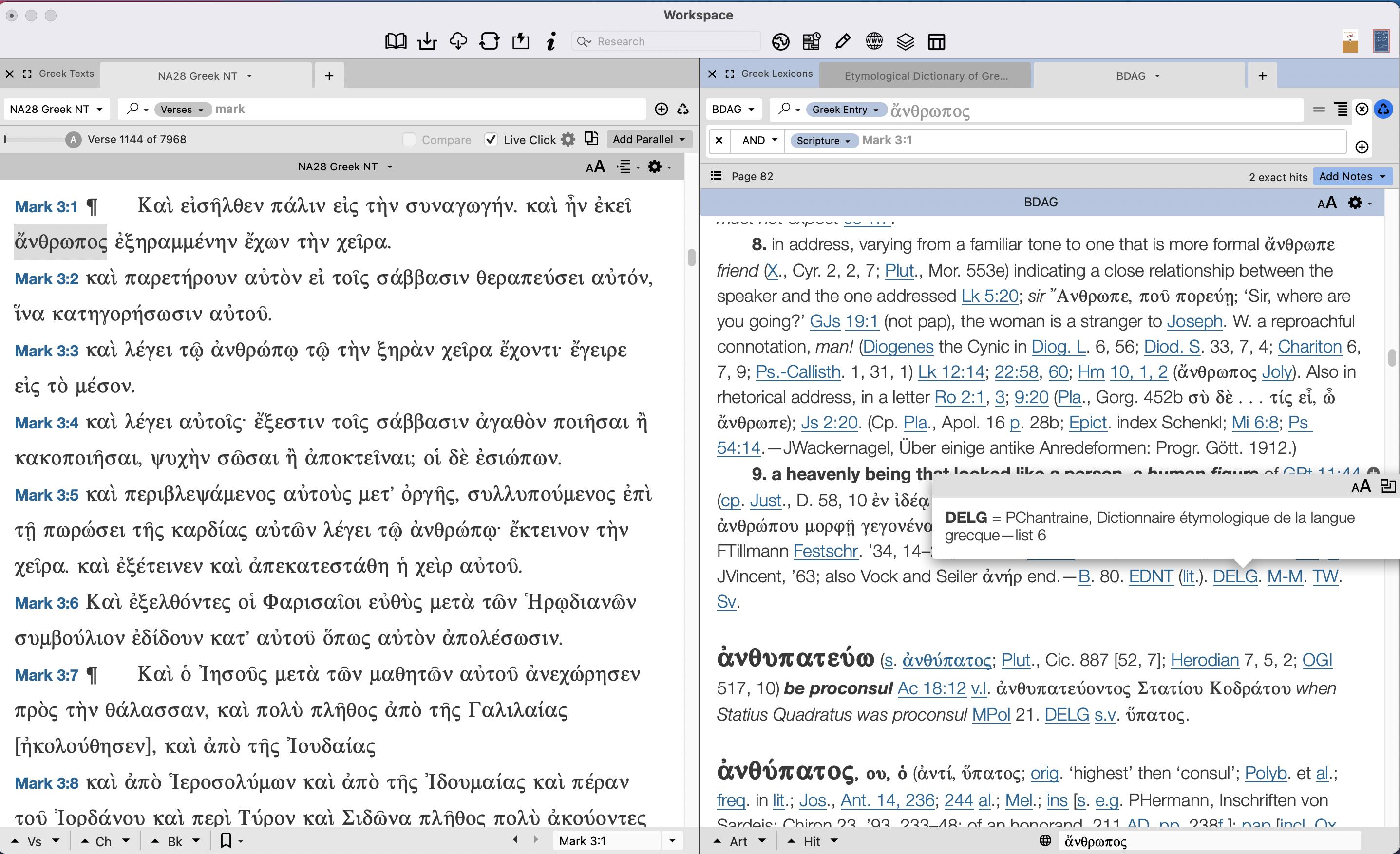 BDAG — not much help regarding etymology